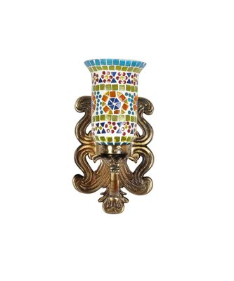 Indian Multicolor Mosaic Glass Up Lighting Lamp Living Room Decorations