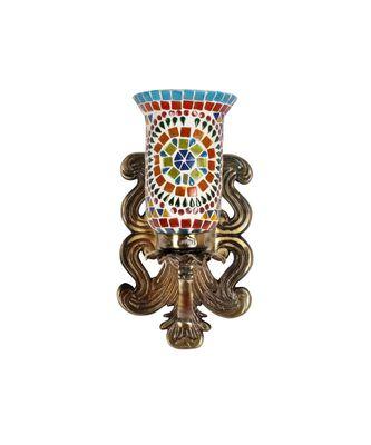 Designer Metal Fitting Indian Mosaic Glass Wall Up Light Lamp Decor