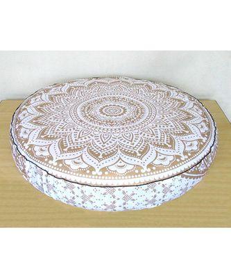 Miraculous Indian Mandala Floor Pillows Round Ottoman Poufs Large Cushion Dog Bed Throw Cover Only Frankydiablos Diy Chair Ideas Frankydiabloscom