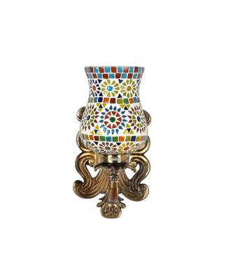 Multicolor Mosaic Glass Wall Up Light Lamp