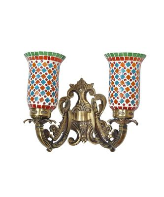 Designer Metal Fitting Wall Sconce Hanging Decoration Wall Up 2 Light Lamp Living Room Décor
