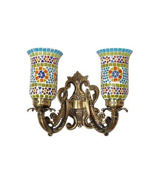 Living Room Mosaic Glass Decorative Wall Up and Down Night Light Lamp Wall Sconce