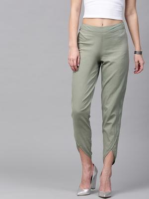 Olive Dhoti Pants