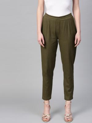 Olive Pencil Pants