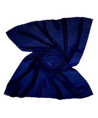 Blue Party Wear Double Shaded Premium Glitter Hijab Head Scarf