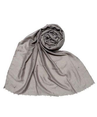 Grey Diamond Studed Designer Cotton Glitter Hijab Head Scarf