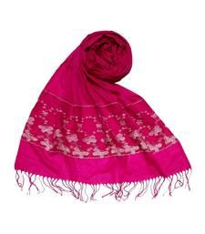 Pink Designer Flower Fringe's Hijab