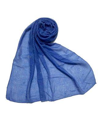 Blue Premium Cotton Crush Hijab Head Scarf