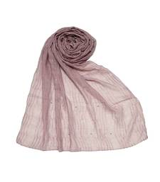 Purple Premium Cotton Crush Hijab Head Scarf