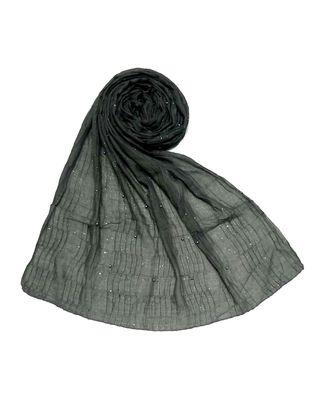 Grey Premium Cotton Crush Hijab Head Scarf