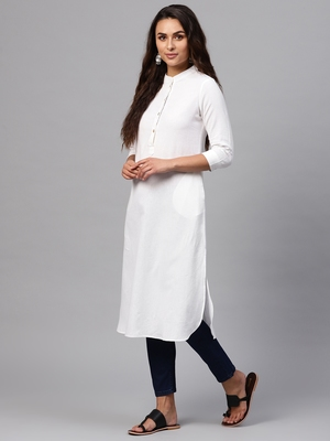 White Straight Kurta