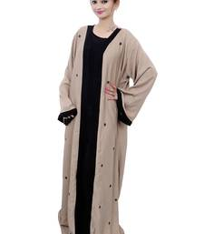 Coffee plain crepe abaya