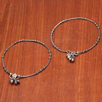 Silver gold anklets