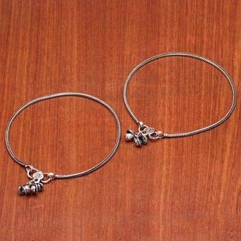 Silver silver anklets