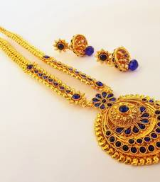 Blue agate south-indian-jewellery