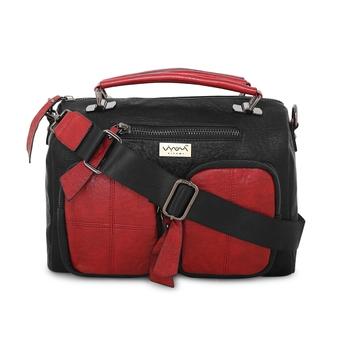 Viyomi Women PU Black Messenger Bags