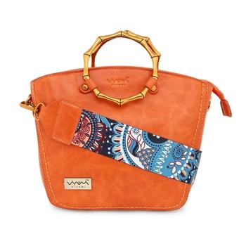 Viyomi Women PU orange Sling Bag