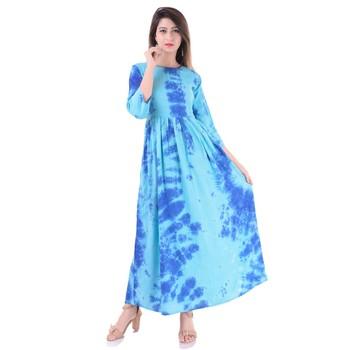 Blue plain Cotton kurtis
