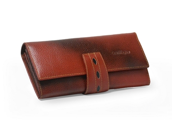 Leather Clucthes for Women with Multiple Zipper ans Card slots