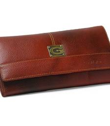Red Leather Clucthes For Women With Multiple Zipper Ans Card Slots