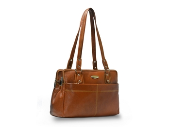 Women Leather Ladies Handbags For Women (Pure Leather Bag) (Beige)