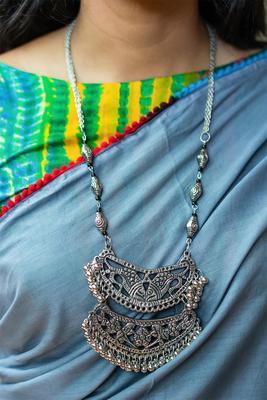 Silver Ghungroo Banjara Necklace