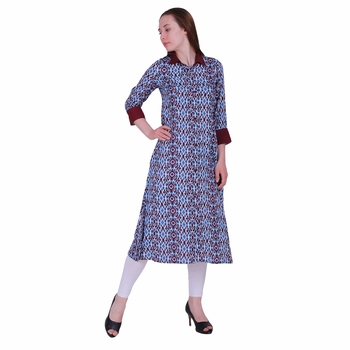 Multicolor Printed Viscose Kurti