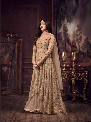 Chiku embroidered net salwar