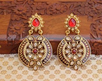 Orange agate earrings