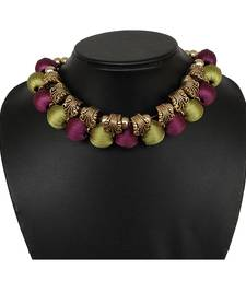 Purple collar-necklace
