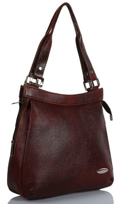 Genuine Bags For Women Leather Ladies Handbags For Women (Pure Leather Bag) (Brown)