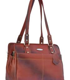 Musqari bags for women leather ladies handbags for women (pure leather bag) (Tan)
