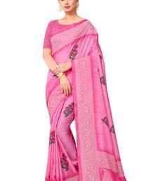 7f2003f9816 Progress 4cc28d84d76fcb9210fe43f7ac15eb975cd0845b972ae4a79b1d0ad72de0bd8e.  Pink printed manipuri silk saree with blouse