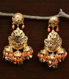 Traditional Punjabi Bollywood Styles Leafy Danglers cum Tikka 217MT232