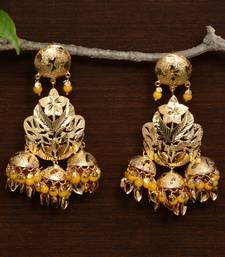Traditional Punjabi Bollywood Styles Leafy Danglers cum Tikka 217MT233