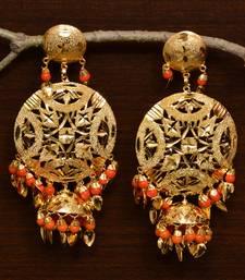 Traditional Punjabi Bollywood Styles Leafy Danglers cum Tikka 217MT238