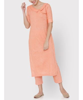 Linen peach colour suit