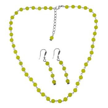 Yellow Quartz   Necklace-Sets