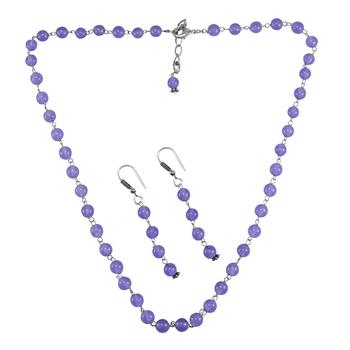 Purple Quartz   Necklace-Sets