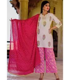 Blush Pink Kurta Set With pink Dupatta
