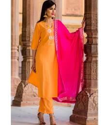 Soft Peach Gotta Patti Kurta Set