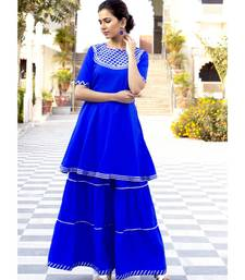 Deep Blue Karishma Short Kurta Skirt Set