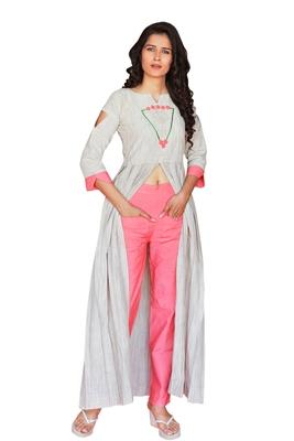 Off white  Embroidery Khadi Cotton kurtas-and-kurtis
