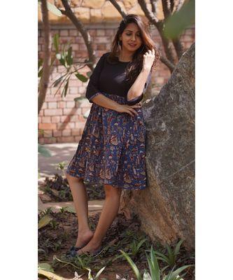 Kalamkari midi dress