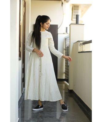 off- white midi vegetable print dress