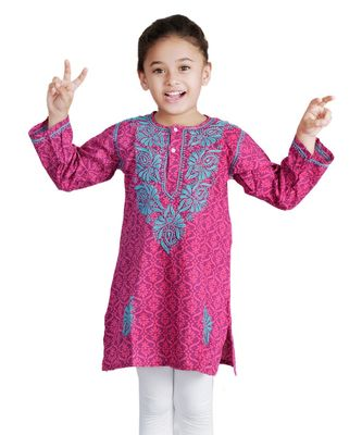 Luckhnowi Kurti With Heavy Embroidery