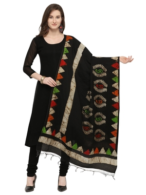 Multicolor Cotton Silk Printed Womens Dupatta