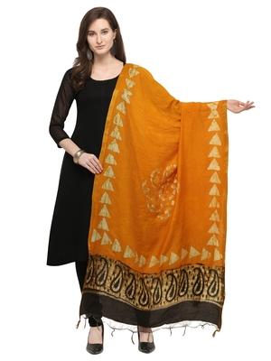 Multicolor Cotton Silk Printed Womens Dupatta