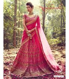 pink Bridal Carnival Designer embroidery wedding Lehenga