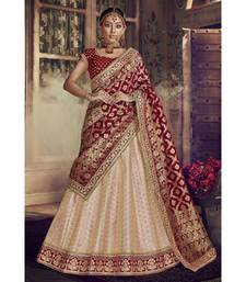 peach Virasat Wedding Designer Lehenga
